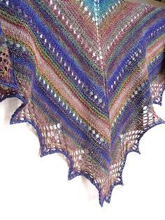 Handspun Prism Shawl by tanislavallee, via Flickr, free on Ravelry