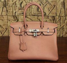 Hermes-Birkin bag in coral red <3