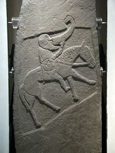 Pictish Stone, Bullion, Invergowrie, Angus. Museum of Scotland.  The Picts were a Late Iron Age and Early Medieval Celtic people living in ancient eastern and northern Scotland.