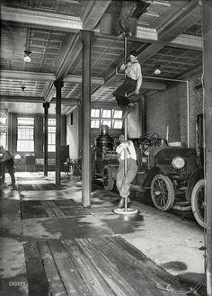 "Washington, D.C., 1922. ""Fire layout -- answering the fire bell."" Harris & Ewing glass negative."