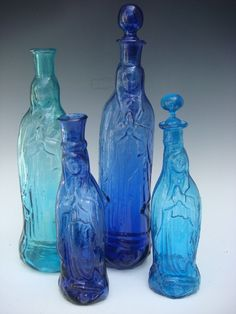 Vintage Guadalupe glass bottles!  www.mexicana-nirvana.com