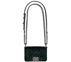 384953b022e7 17C Authentic CHANEL BOY BAG GREY Quilted Leather Silver Chain ...