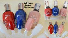 Sally Hansen Complete Salon Manicure in Maasai Red, Midnight Affair, Rose Glass