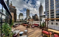 Rooftop Terrace at The Refinery Hotel – 63W 38th Street