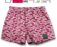 Click to check out other patterns!Hot flamingo boxers Men's underwear for geeks and nerds only. Fairly produced in Europe, 100% cotton, packed in gold! unerdwear.com/ From €19