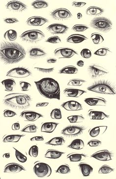 .:Helpful Inks:. — shadowseason: 63 eyes in ballpoint pen :) some...