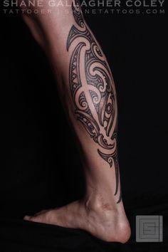 SHANE TATTOOS: Maori Calf Tattoo, Ta Moko