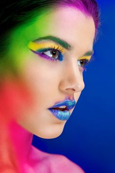 colorful beauty makeup