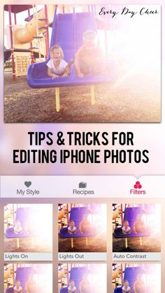 Editing your iPhone pictures - http://jennycollier.com/?p=11238
