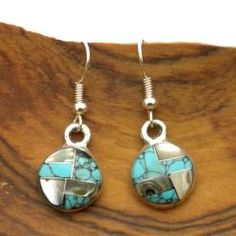 Alpaca Silver Gemstone Teardrop Earrings (Mexico) - Free Shipping On Orders Over $45 - Overstock.com - 13484106