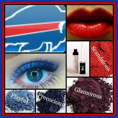 Buffalo Bills look created using mineral pigments Playful, Precocious, and Glamorous. Apply Lucrative Lip Gloss in Loyal and add Scandalous blusher for color! Top off your look with Fiber Lash Mascara! Blusher Makeup, Blusher Tips, Makeup List, Free Makeup, Younique Eye Pigments, Mascara Younique, Lucrative Lip Gloss, Makeup Looks For Brown Eyes, All Natural Makeup