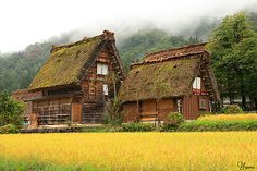 World Culture Heritage Shirakawagou Japan 白川郷 合掌造り thatched roof houses by * Yumi *, via Flickr