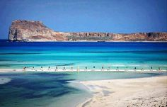 BALOS LAGOON CRETE GREECE.