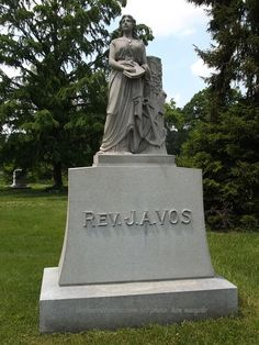 #TFS Photos (1/4)- The Rev. J.A. Vos Marker at the Spring Grove Cemetery, Cincinnati, Ohio (c) The Funeral Source, photo: Ken Naegele. http://www.thefuneralsource.org/cemohhamco.html