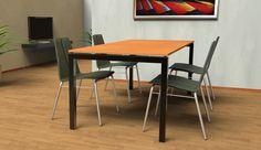 0014 CALLAS | Table à manger avec plan en Cocciostone, posé sur une structure en fer.