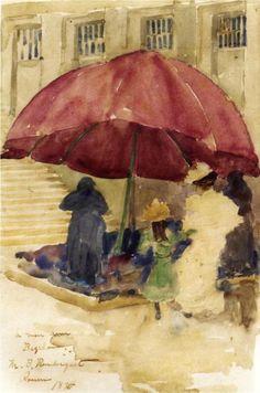 Maurice Prendergast, A Street in Rouen, 1894