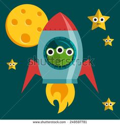 flat alien illustration - Google Search