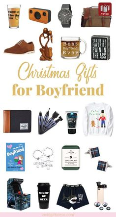Say I Love You: 24 Best Gifts for Your Boyfriend that He'll Love Christmas gifts for boyfriend. Holiday gifts for men. Includes mens fashion, cool tech gifts for guys, grooming, accessories and more.