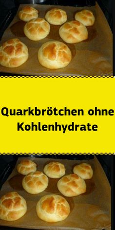 Quark rolls without carbohydrates # low carbohydrate recipes airy light breads . - Quark buns without carbohydrates # Low carb recipes light and airy bread substitute or to be enjoye - Easy Bread Recipes, Low Carb Recipes, Quark Recipes, Bread Substitute, Bread Rolls, Easy Meals, Dinner Recipes, Snacks, Food And Drink