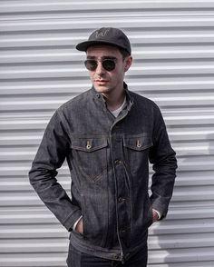 ✔️Nihon Mempu Rider Jacket with banded collar - 14 oz. white-line selvedge denim - limited run of 40! #ginew #nihonmempu #selvedgedenim #riderjacket #menswear #portlandoregon