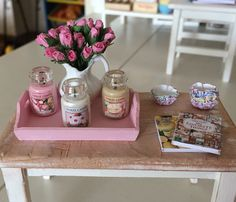 112 Scale  Glass Jar Candle  Dollhouse by BakinginMiniature, $10.00