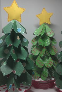 Welcome to Scrappin' Cat's Creative Endeavors: Scallop circle Christmas trees