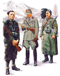 Italian Units - Yugoslavia: • Vicecaposquadra, Slovenia, August 1942  • Colonnello titolare, Eastern Montenegro, 1942  • Sergente-Maggiore, Western Croatia, September 1941