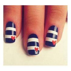 Navy nails #nails art