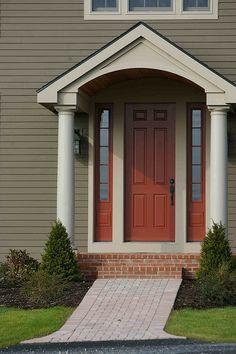 Front door overhangs on pinterest front stoop porticos for Front door overhang ideas