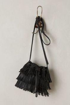 Anthropologie Fluttered Fringe Bucket Bag #anthrofave