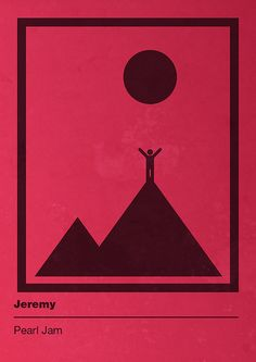 Pearl Jam - Ten - Jeremy, pictogram music poster by Eddie Bouncer, via Flickr