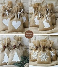 Several unique and attractive Christmas packaging ideas for your soap this holiday season! Christmas Soap, Christmas Gift Bags, Christmas Wrapping, Xmas Gifts, Christmas Crafts, Christmas Decorations, Christmas Ornaments, Burlap Gift Bags, Pretty Packaging