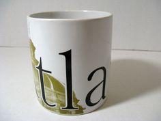 "Vintage STARBUCKS 1994 City Mug Series ""ATLANTA"" Large Coffee Mug, Capitol Building"