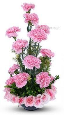 Afbeeldingsresultaat voor simple flower arrangements with roses Contemporary Flower Arrangements, Flower Arrangement Designs, Unique Flower Arrangements, Simple Flowers, Pink Flowers, Beautiful Flowers, Pink Carnations, Pink Roses, Church Flowers
