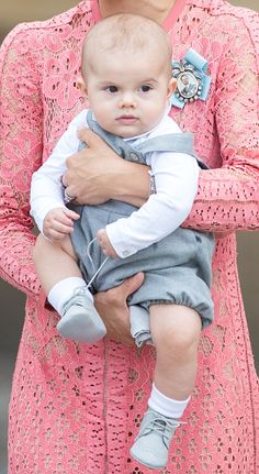 Prince Oscar attends the christening of Prince Alexander of Sweden at…