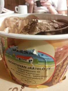 Locally produced ice cream from Karinainen, Finland