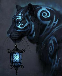 Mystical Animals, Mythical Creatures Art, Big Cats Art, Cat Art, Furry Art, Creature Drawings, Animal Drawings, Wolf Drawings, Fantasy Animal