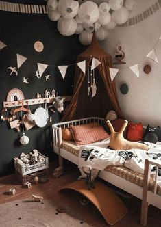 Black with Pops of Colour in the Bedroom of Milan and Luis Children's Room; Home Decoration; Kids Bedroom Boys, Baby Bedroom, Bedroom Black, Childrens Bedroom, Unisex Bedroom Kids, Unisex Baby, Nursery Decor, Bedroom Decor, Nursery Design