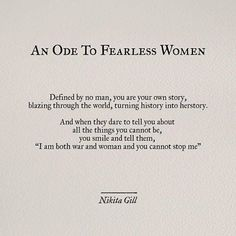 30 Powerful Quotes From Poet & Author Nikita Gill, Including An Exclusive Interview On Her Newest Book, 'Fierce Fairytales' Fierce Women Quotes, Powerful Women Quotes, Quotes By Women, Strong Women Quotes Strength, Other Woman Quotes, Fearless Quotes, Wise Women, Powerful Words, The Words