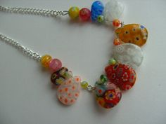 Summer Millifiori millifiore Glass necklace mix by NewellsJewels, £12.00