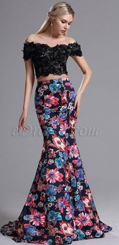Two-piece Prom Evening Gown