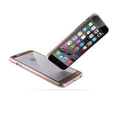 iPhone 6 Case   iCASEIT COMBi Glass Case - GOLD   Slim case with Strengthened Glass back   Only 0.8mm in Thickness   [Non-Slip] [Exact-Fit] Premium Finish   Does NOT fit iPhone 6s - GOLD