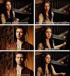 Mary and Bash #TeamBash #Reign {He's talking about himself!!! <3}