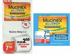 CVS, Walgreens, AND Rite Aid: Get FREE Mucinex Allergy Relief 5 ct with Coupon and Mail-In Rebate (starting 2/23!) - http://www.couponaholic.net/2014/02/cvs-walgreens-and-rite-aid-get-free-mucinex-allergy-relief-5-ct-with-coupon-and-mail-in-rebate-starting-223/