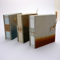 Mini Notebook - Indigo and Onion Dyed leather, Kate Bowles Books