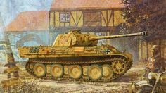 German heavy tank PzKpfw V Ausf. G Panther - Enzo Maio. Military Art, Military History, Tank Wallpaper, Ww1 Art, Military Drawings, Tank Armor, War Thunder, Armored Fighting Vehicle, Ww2 Tanks