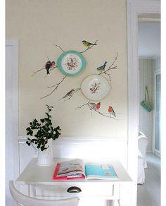 Фото из статьи: Как украшать стены тарелками: 25 модных примеров