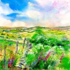 A Perfect Day Print By Sheila Gill.   Greetings Cards   Prints   Gift Wrap
