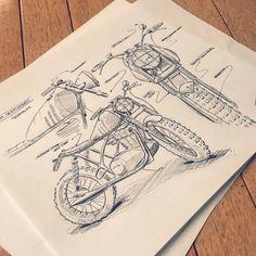 "Charles Han on Instagram: ""Commissioned work for @mc.international out in Spain. Helping him visualize a Yamaha SR250 Scrambler concept. #vintage #motorcycle #croig #caferacer #dropmoto #sketching #sketch #rendering #industrialdesign #hondacb #vsco #vscocam #drawing #illustration #ironandair #caferacerxxx #bmw #r100 #inktober #r75 #sketching #sketchbook #idsketching #productdesign #bmwmotorrad #transportationdesign #concept #render #motorcycles #caferacersofinstagram #caferacerculture"""