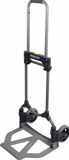"Heavy Duty Hand Truck Carrier Solid Cart Foldable Transfer Support  Engineered with toughness in mind…holds up to 150 lbs., but only weighs 9 lbs. Compacted, it measures only 27"" tall and 2"" wide…great for carrying on planes (fits in overhead compartments as it has fully retractable wheels), trains and automobiles.... and every office or warehouse. It's slim size helps it store anywhere....on a peg hook in your garage or closet, in your trunk, a nook or cranny in your RV...just about…"